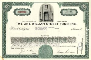 One William Street Fund, Inc.