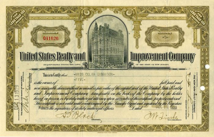 United States Realty and Improvement Company