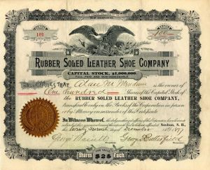 Rubber Soled Leather Shoe Company