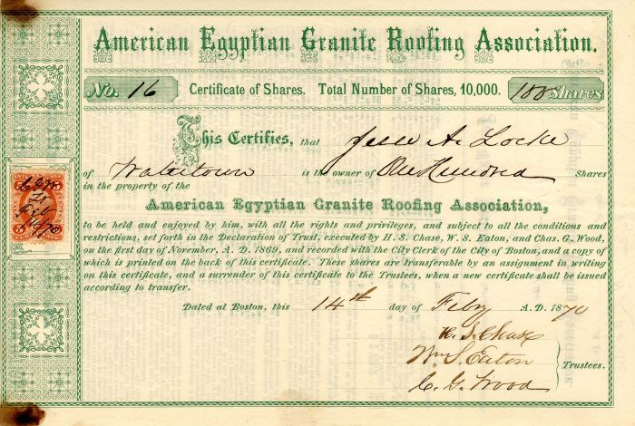 American Egyptian Granite Roofing Association