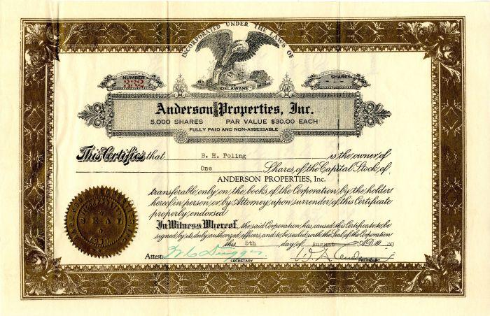 Anderson Properties, Inc.