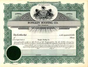 Narragansett Mills Stock Certificate