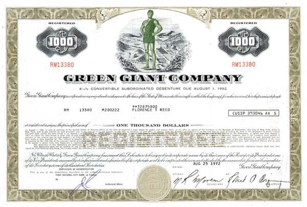 Green Giant Co - Bond