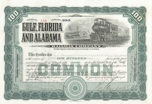 Gulf, Florida and Alabama Railway - SOLD