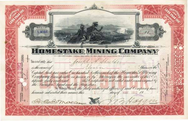 James Ben Ali Haggin - Homestake Mining Company