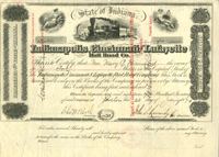 Indianapolis, Cincinnati and Lafayette Rail Road Co. - SOLD