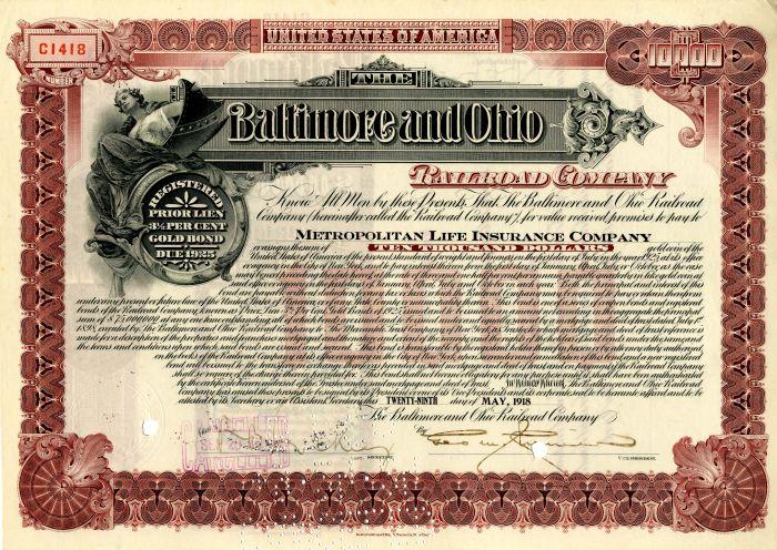 Baltimore and Ohio Railroad Company - $10,000