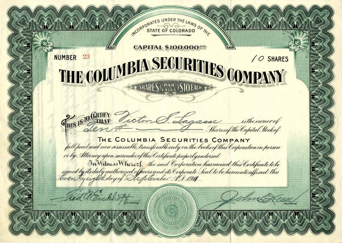 Columbia Securities Company