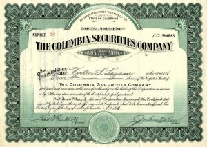 Columbia Securities Company