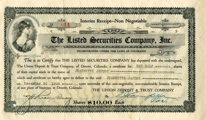 Listed Securities Company, Inc.