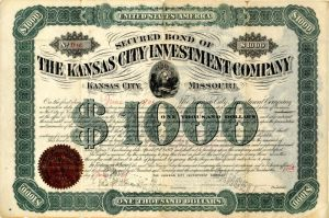 Kansas City Investment Company - $1,000