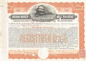 Alfred G. Vanderbilt, William K. Vanderbilt, Jr. - Indiana Harbor Belt Railroad - Bond