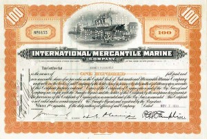 Kermit Roosevelt - International Mercantile Marine Co  - 104th Anniversary of Sinking of Titanic - 1912-2012 - Stock Certificate