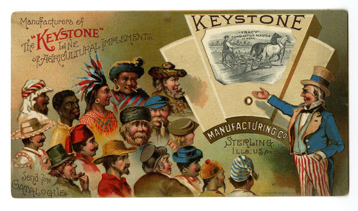 Keystone Uncle Sam Mechanical Trading Card - SOLD
