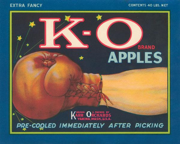 Fruit Crate Label - K-O Apples