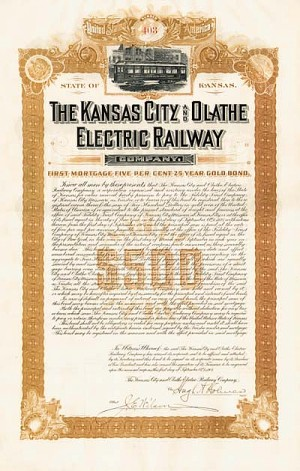 Kansas City and Olathe Electric Railway - SOLD
