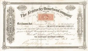 Kentucky Bourbon Company - Stock Certificate - SOLD