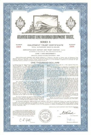 Atlantic Coast Line Railroad Equipment Trust