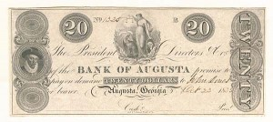 Bank of Augusta - SOLD