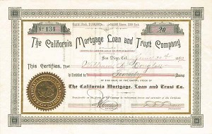 California Mortgage Loan & Trust Co.