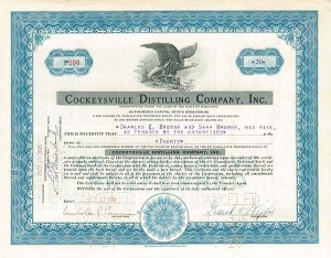 Cockeysville Distilling Co. Inc