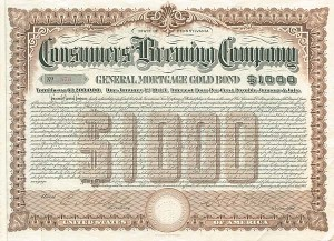 Consumers Brewing Company - $1,000 - Bond