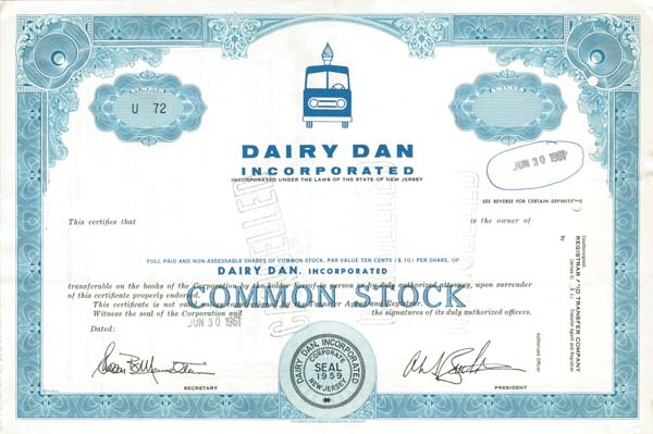 Dairy Dan Inc - SOLD