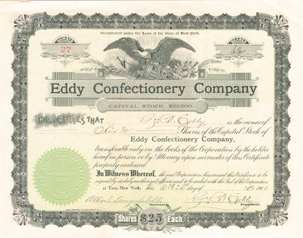 Eddy Confectionery Co - SOLD