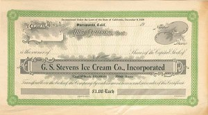 G. S. Stevens Ice Cream Co., Inc - SOLD