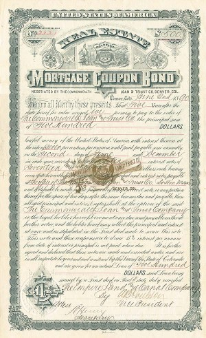 Real Estate Mortgage Coupon Bond