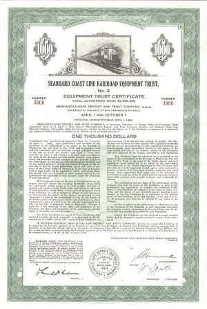 Seaboard Coast Line Railroad Equipment Trust