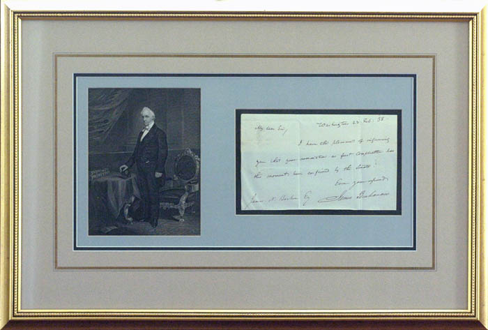 James Buchanan Autographed Document