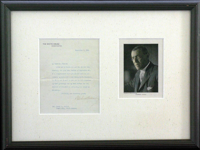 Woodrow Wilson Autographed Letter - SOLD