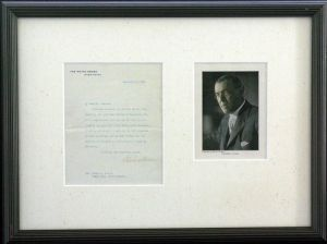 Woodrow Wilson Autographed Letter