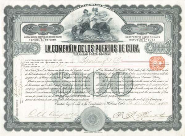 La Compania de los Puertos de Cuba