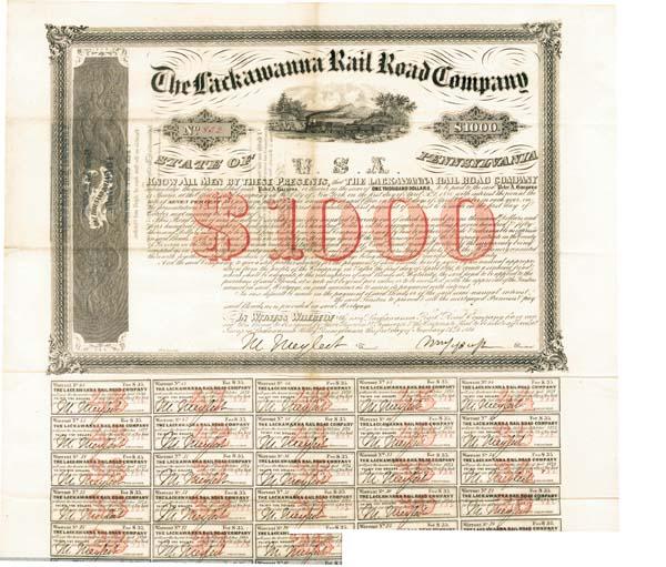 Lackawanna Rail Road Company - Bond