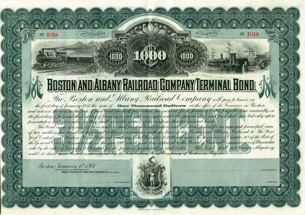 Boston & Albany Railroad Company Terminal - Bond
