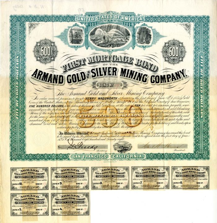 Armand Gold and Silver Mining Company - Bond