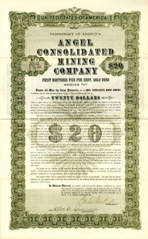 Angel Consolidated Mining Company - $20 Bond