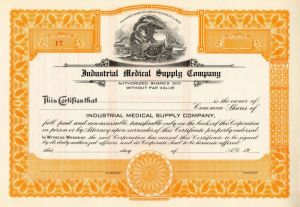 Industrial Medical Supply Company - Stock Certificate