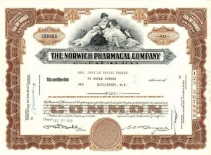 Norwich Pharmacal Company - Stock Certificate