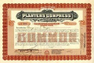 Planters Compress Company - Stock Certificate
