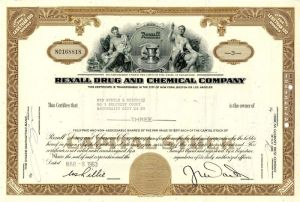 Rexall Drug and Chemical Company - Stock Certificate