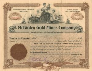 McKinley Gold Mines Company - Stock Certificate