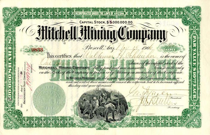 Mitchell Mining Company - Stock Certificate