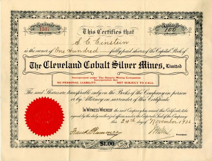 Cleveland Cobalt Silver Mines, Limited