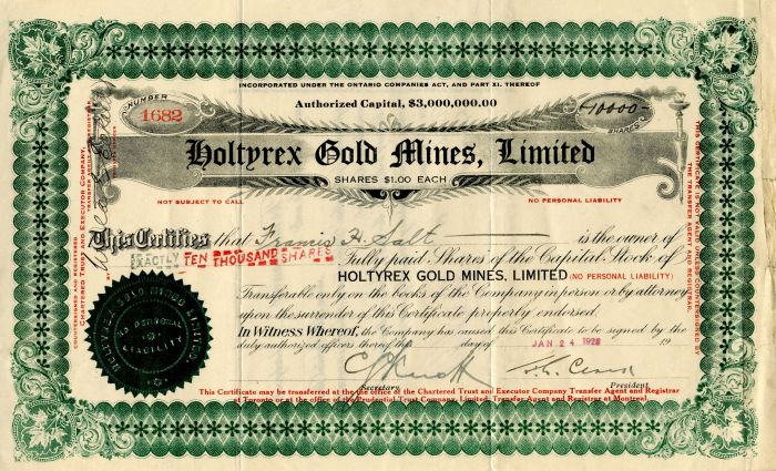 Holtyrex Gold Mines, Limited