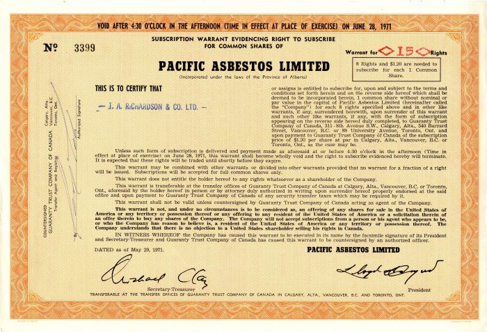 Pacific Asbestos Limited