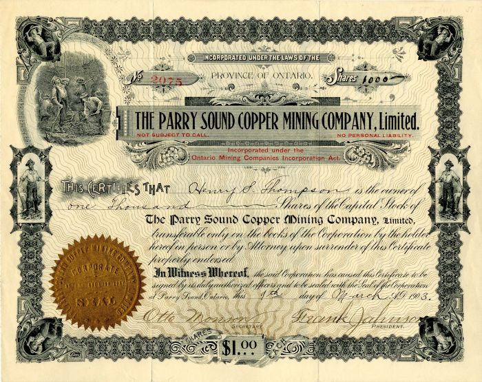 Parry Sound Copper Mining Company, Limited