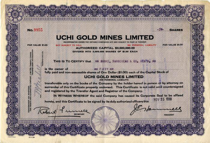 Uchi Gold Mines Limited